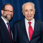 2014_Leon with Shimon Peres - Israel v2