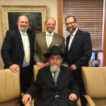 COJO Board (back row): Moshe Zakheim, Larry Speiwak, Leon Goldenberg with (front row) COJO Executive Director Rabbi Pikus