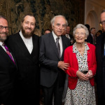 L-R: Leon Goldenberg – Raoul Wallenberg Congressional Gold Medal Commission, EzraFriedlander – CEO – The Friedlander Group, Baruch Tenembaum - Founder – International Raoul Wallenberg Foundation, Nina Lagregen - half-sister of Raoul Wallenberg, Peter Rebenwurzel – Chairman – Raoul Wallenberg Congressional Gold Medal Celebration