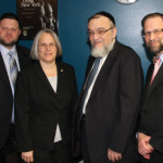 Chaskel Bennett, Assemblywoman Helene Weinstein, Shmuel Lefkowitz and Leon Goldenberg