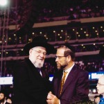 Leon Goldenberg with Rabbi at siem