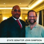 Senator John Sampson with Leon Goldenberg