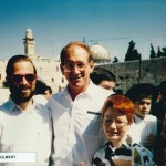 Leon Goldenberg with son abi and Olmert in Israel