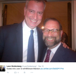 NYC Mayor Bill DeBlasio with Leon at Gracie Mansion