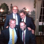NYC Mayor Bill de Blasio next to Leon and friends at his Gracie Mansion home.