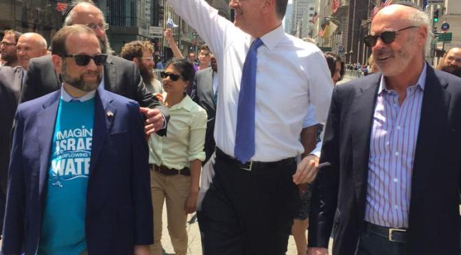 Leon Goldenberg with New York City Mayor, Bill DeBlasio