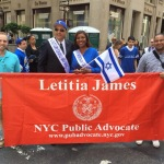 NY Public Advocate Letitia James proudly stands with Israel