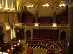 The chamber inside the New York State Capitol