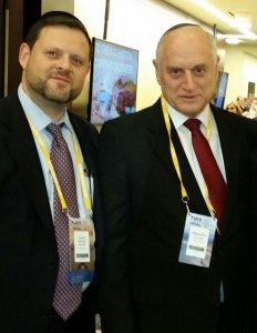 Chaskel Bennett and Malcolm Hoenlein